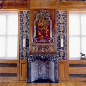 Laat Lodewijk XIV schoorsteenbetimmering met schilderstuk