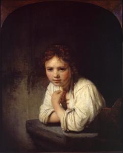 Meisje aan een venster