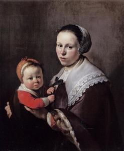 Dubbelportret van Maria Hulstman (....-....) met een kind