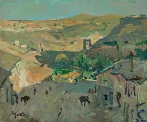 Bergdorp bij Toledo, Spanje