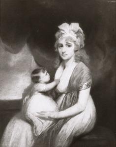 Dubbelportret van een moeder en kind, mogelijk Brigitta Henrietta Constantia Pancras Clifford (1775-1804) en Brigitta Wilhelmina Jacoba Gerbrandina van Hoorn (1797-1840)