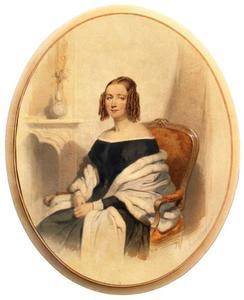 Portret van 'Mevrouw Biben', waarschijnlijk Johanna Elisabeth Biben (1817-1889)
