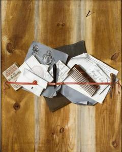 Trompe l'oeil van een brievenbord