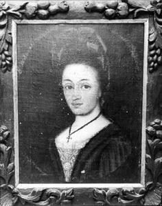Portret van Anne Elisabeth Bandtzbil (geb. 1681, as Krogh), echtgenote van Jacob Christian Jenssen Bandtzbil