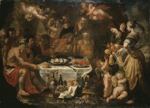 Het gastmaal van Achelaos voor Theseus en Pirithoos