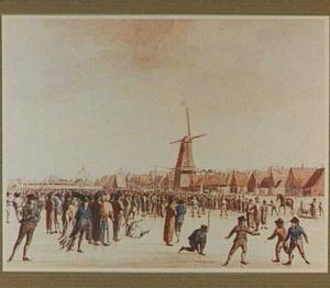 Heerenveen, schaatswedstrijd