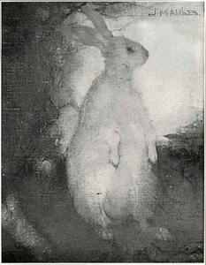 Wit konijn (staand)