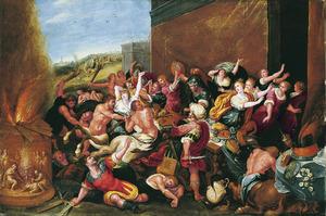 Het gevecht der Paithen en centaurs gedurende het huwelijk van Peritoos en Hippodameia