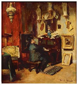 Pieter Oyens achter de piano
