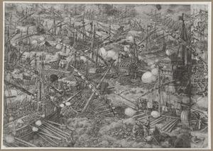 Don Juan van Oostenrijk verslaat de Turken in de zeeslag bij Lepanto, 1571