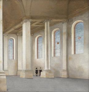 Interieur van de Nieuwe Kerk te Haarlem gezien vanuit het zuidwesten