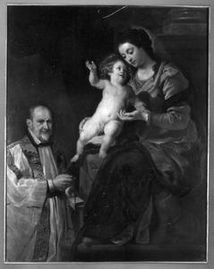 Maria met kind en kanunnik Jan van Calendries (?-?)