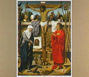 De kruisiging omgeven door de 'Arma Christi'