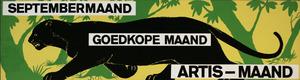 Artis-Septembermaand-Tram-Affiche: zwarte panter en profil