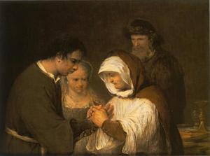 Edna zegent Tobias en zijn bruid (Tobias 7:19-20)