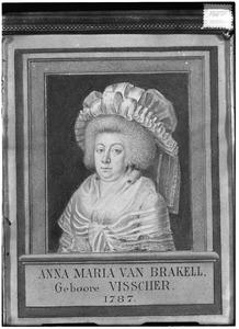 Portret van Anna Maria Visscher (1729-1792)