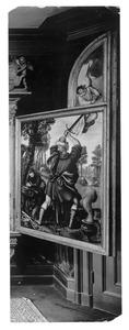 Het offer van Isaak: een engel weerhoudt Abraham als hij zich opmaakt om Isaak te slachten (Genesis 22:11-12)