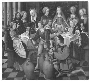 Christus verandert water in wijn tijdens de bruiloft  te Kana (Johannes 2:1-11)