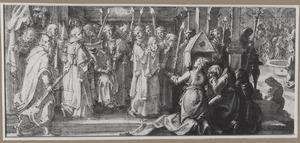 De begrafenis van Paus Stefanus I in de catacomben van Callixtus