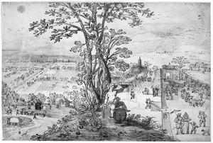 Landschap met Bacchus (oktober)