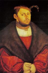 Portret van Johann Friedrich van Saksen