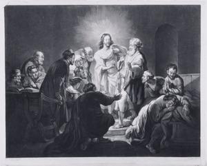 Christus toont zijn wonden aan de ongelovige Thomas (Johannes 20: 24-29)