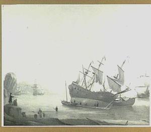 Kalefateren van schepen voor mediterrane kust