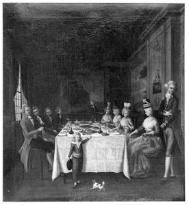 Portret van de familie van Sminia