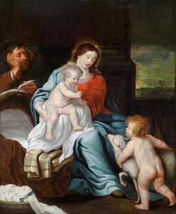 De Heilige Familie en Johannes de Doper als kind