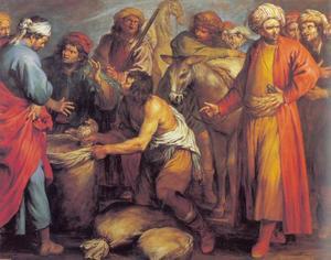 De zilveren beker gevonden in de zak van Benjamin (Genesis 44:12-13)