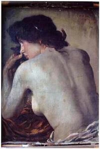 Vrouwelijk naakt op de rug gezien (studie)