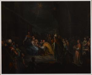 De aanbidding van het Christuskind door de drie koningen