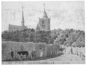 Noordwijk met de kerk van Sint Jeroen