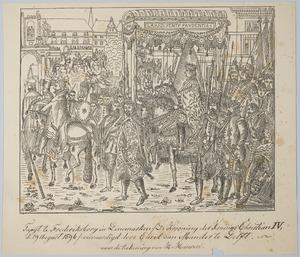 De kroning van koning Christian IV van Denemaken op 29 augustus 1596