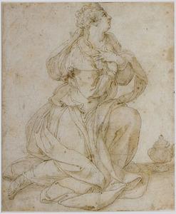 H. Maria Magdalena, knielend