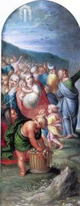 Mozes heft zijn staf en sluit de wateren van de Schelfzee (Exodus 14:24-28)