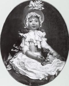 Portret van een jong meisje met een hondje