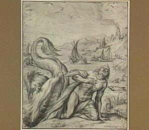 Jona uitgespuwd door de walvis (Jona 2:11)