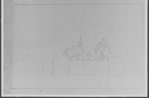 Linkerzijde van het kasteel van Woerden