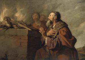 Job bidt om vergeving voor zijn vrienden tot God (Job 42:10)