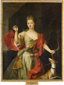 Portret van Marie Madeleine Mottier de la Fayette ( -1717)