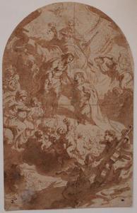 Chistus ontvangt Maria na de ter hemelopneming in het Paradijs