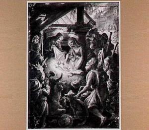 Het Christuskind aanbeden door de herders