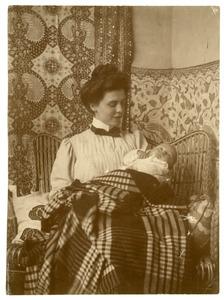 Portret van Elisabeth Anna Maria de Bruijn (1885-1992) en Martinus Feikema (1907-1996)