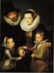 Portret van Jan Brueghel I (1568-1625) en zijn gezin