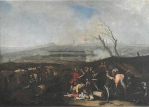 De belegering van de stad Augsburg in de jaren 1703-1704
