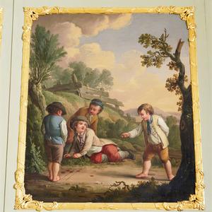 Jongetjes bezig met een spel