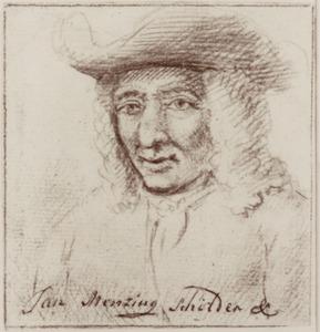 Portret van Jan Mensing (1685-1741)