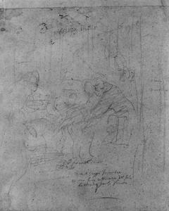 De Heilige Franciscus van Assisi ontvangt de laatste communie