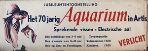 Artis-Aquarium-Tram-Affiche: Jubileumtentoonstelling Het 70 jarige Aquarium in Artis